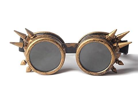 ZAIQUN Retro Vintage Victorian Steampunk Goggles Glasses Punk Style Welding