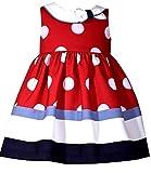 Süßes Baby Kleid inkl. Windelhöschen im Marine Stil von Bonnie Jean Gr. 56,62,68,74,80,86 Größe 80