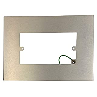 G&H 810SS Brushed Steel Finger Plate Surround 212mm x 152mm for Double Plate