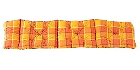 Ambientehome Coussin à carreux pour Chaise longue EVJE Orange 195 x 49 x 8 cm 90648