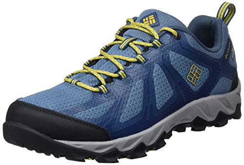 Columbia Herrenschuhe Multisport, Wasserdicht, PEAKFREAK XCRSN II XCEL LOW OUTDRY, Größe 42.5, Blau (Steel, Antique Moss) - Herren Indoor Court Schuhe