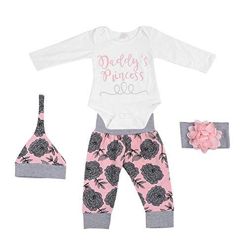 Sweatsuit Jacke Hose (Mädchen Kleidung Sets, Kleinkind Baby Strampler Langarm Body + Hosen Shorts + Stirnband Outfit Anzug(70))