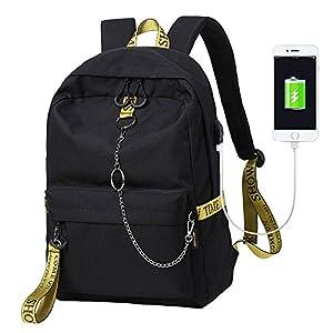 41eY5nG2mwL. SS300  - Escuela Mochila Talega de Libros Colegio Ordenador portátil USB Mochila Casual Viajes Daypack para Adolescente Chicas y Mujeres