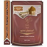 Spice Platter Bhuna Jeera Powder ( Roasted Cumin Powder), 400g (Pack of 4 - 100g Each) Pouch, 4 x 400 g