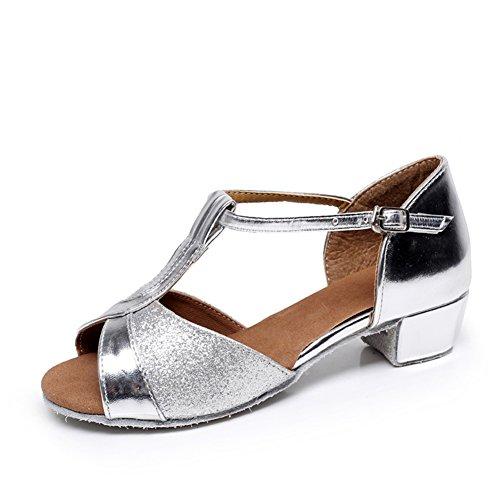 Scarpe da ballo latino per le ragazze/Bambini con moderne scarpe da ballo/Scarpe inferiori molli B