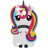 Huawei P9 Lite Hülle, Handyhülle Huawei P9 Lite, TPU dauerhaft Case Staub Rutsch kratzfest (3D Cartoon Einhorn unicorn Rainbow)