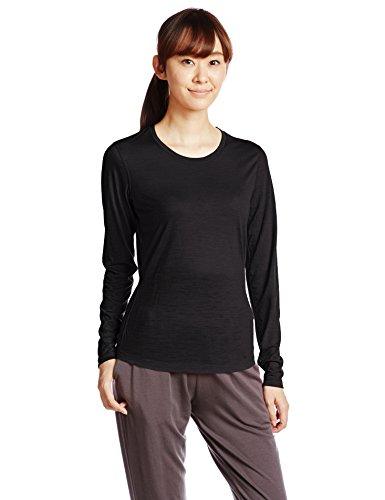 super natural Damen Merino Funktionsshirt Langarm Base Long Sleeve 140, Caviar, 38/40, SNW004440001