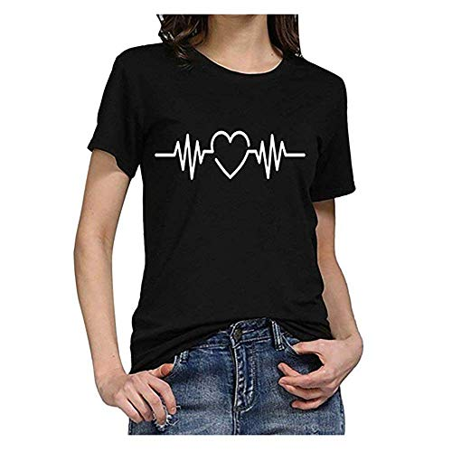 FJHYT Farfalla T Shirt Donna Sciolto Manica Corta Canotta CollOo Maglietta Tees Eleganti Camicetta Casuale Top Estate Camicia Donna Gilet Sportivi