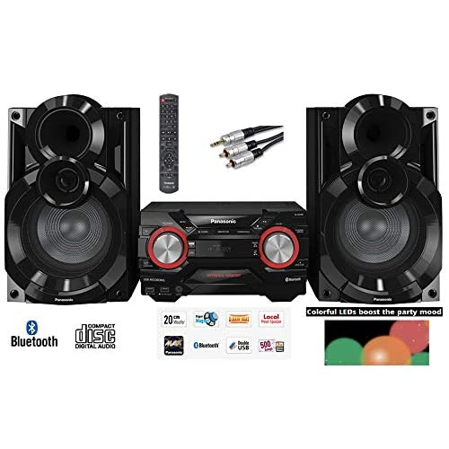 41eY7ir4f4L. SS500  - Panasonic SC-AKX400EB-K 600W RMS Home System Wireless with 2GB internal Memory MAX Juke box Double USB & Colour Changing /AM/FM Radio SCAKX400 / SC-AKX400