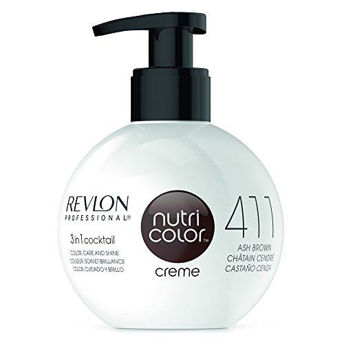 REVLON PROFESSIONAL Nutri Color Crème,Nr. 411 Ash Brown, 1er Pack (1 x 270 ml) - Revlon Creme