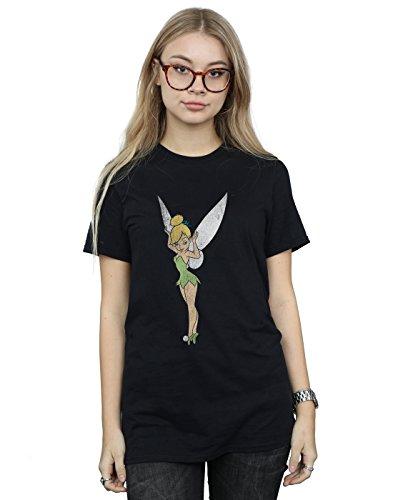 an Classic Tinkerbell Boyfriend Fit T-Shirt Large Schwarz ()