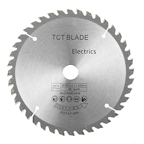 GIlH 165mm Circular Saw Blade 40 Teeth Cutting Disc with Reduction Ring