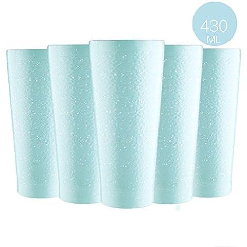 Tazza Nizza Set in acciaio inox tazza di ceramica tazza creativa della tazza semplice tazza di caffè Coppa resistenza alle cadute ( colore : Blu )