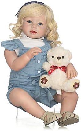 Homesave Baby Simulation Soft Silicone 70Cm Cute Girl avec Les Yeux Ouverts Halloween Cadeaux De Noël | Aspect Attrayant