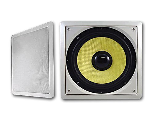 Acoustic Audio HDS10 Passiver Subwoofer-Lautsprecher in der Wand 25,4 cm (In-wall Home Theater System)