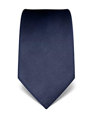 VB-Cravatta Uomo in Seta-Tinta unita-Molti colori disponibili Dark Blue Taglia