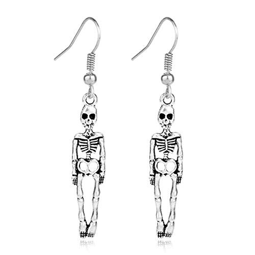 Scrox 1x Ornamenten Halloween-Retro Legierung Mode Cool Ohrringe Ghost Ohrringe Halloween 0,8* 3,7cm