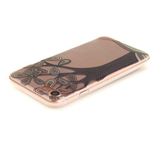 """Apple iPhone 7 4.7"""" hülle,MCHSHOP Ultra Slim Skin Gel TPU hülle weiche Silicone Silikon Schutzhülle Case für Apple iPhone 7 4.7"""" - 1 Kostenlose Stylus (Grüner Baum) Handbemalter Baum"""