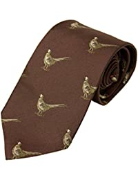 Bisley 100% Silk Tie - Shooting hunting country scenes tie - Handmade