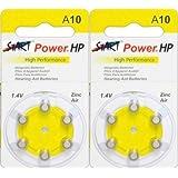 StartPower - 12 Pilas de botón para aparato auditivo - Tamaño A10 - 1.45V - 100mAh - PR70