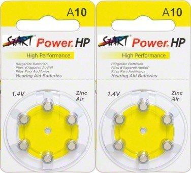 StartPower - 12 Batterien für Hörgeräte - Typ A10 - 1.45V - 100mAh - PR70