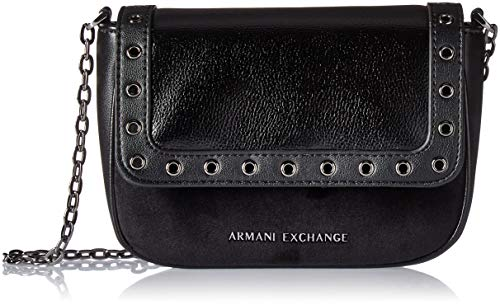 ARMANI EXCHANGE Cross-body Bag - Borse a tracolla Donna, Nero, 13.0x6.0x19.0 cm (B x H T)
