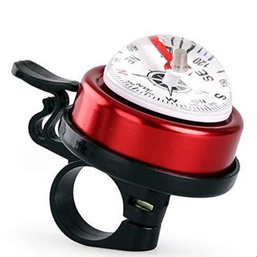 EODUDO-S Kompass Horn Fahrradzubehör Für Männer Frauen Kinder Mädchen Jungen Fahrradklingel, Weitere Stile (Farbe : Rot, Größe : Free Size)