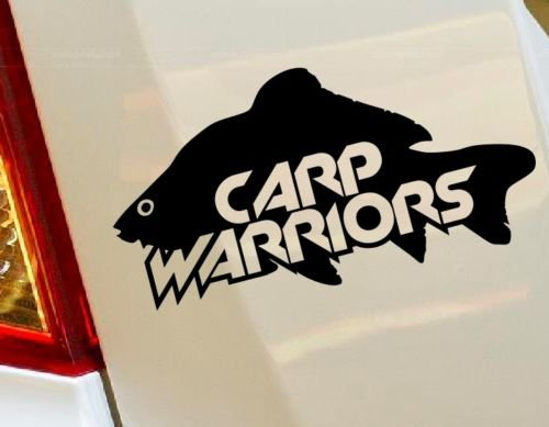 pesca alla carpa Warriors Hunting Fish Truck hobby auto Drift bumper finestra Funny vinyl Van di amore cuore Decor Home Live Kids Funny decalcomania da parete moto