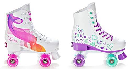 Raven Rollschuhe Roller Skates Trista/Serena verstellbar 2019 (Serena Pink, 35-38(22,5cm-24cm))