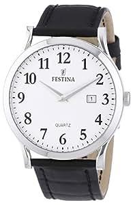 Festina - F16520/1 - Montre Homme - Quartz Analogique - Bracelet Cuir Noir