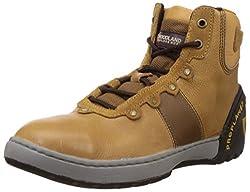 Woodland Mens Tan Leather Boots - 5 UK/India (39 EU)