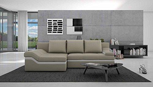 SalesFever Polsterecke ausziehbar mit Schlaffunktion in L-Form 235×133 cm Nodobi