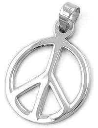 c54698b9c30b Suchergebnis auf Amazon.de für  anhaenger peace zeichen silber 925 ...