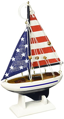 Hampton Nautisches USA Flagge Segelboot Weihnachtsbaum Ornament 22,9cm-Dekorative Modell Boot, Nautical Weihnachtsbaum Dekoration