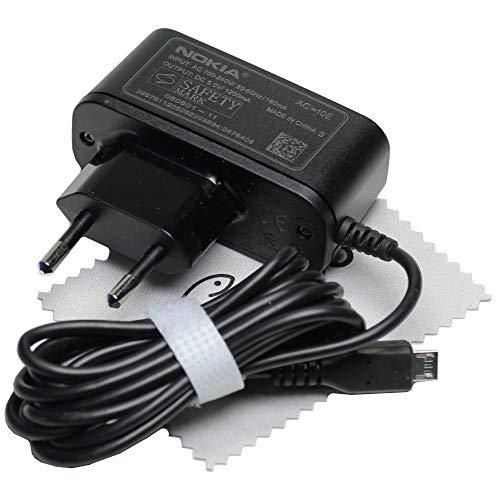 Ladegerät für Original Nokia AC-10E Micro-USB Netzteil Ladekabel Kabel Stromkabel Netzladegerät für Nokia Lumia 930, N85, N86, N9, N900, N97, N97 Mini, X, X Plus, X7-00 mit mungoo Displayputztuch Mini N97 Handy