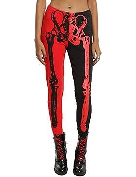 Halloween de BaZhaHei, Pantalones Largos de Las Polainas esqueléticas de Halloween de Las Mujeres Atractivas del...