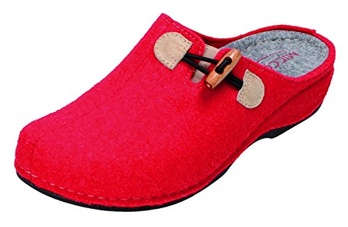 MICCOS , Chaussons pour femme Rouge Rouge Rouge