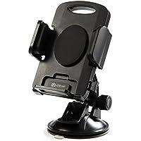 """iClever–Soporte de coche, 360Degree rotación Universal soporte de coche para parabrisas del coche soporte ventosa para iPhone 6plus 65S 5C 4S Samsung Galaxy Note 3, Note 2, Galaxy S4S3S2y otros teléfonos móviles de ancho 2.28""""-4.72""""–negro"""