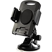 Car Phone Holder, iClever Car Mount 360 Degree Rotación Universal Phone Holder, Windshield Dashboard Car Cradle