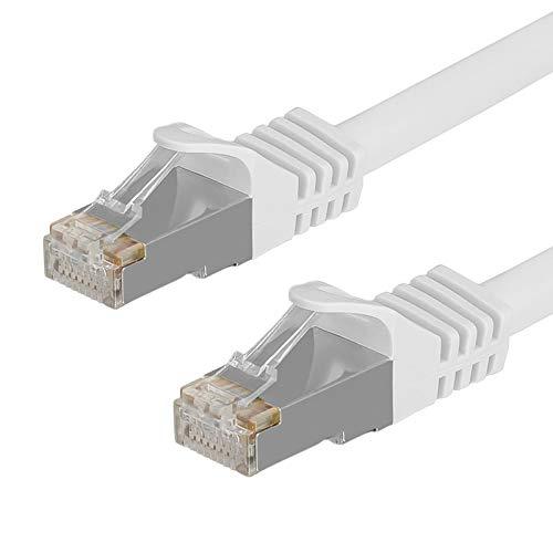 150 Mbit / S-kabel (HB-DIGITAL 1,5m Netzwerkkabel LAN Kabel Cabel Rohkabel Rawcable RJ45 Stecker 150cm cat 7 weiß Weiss Kupfer RoHS-Compliant cat. 7 Cat7 4x2xAWG26/7 RJ45 Port Ethernet Netzwerk AWG26 Patchcable)