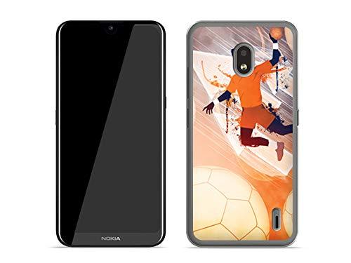 etuo Hülle für Nokia 2.2 - Hülle Fantastic Case - Handball Handyhülle Schutzhülle Etui Case Cover Tasche für Handy