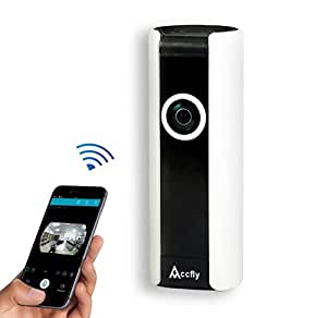 Accfly Wireless Security IP Camera 720P HD WiFi System Home Surveillance Video Cam Two Way Talk Night Vision 185° Wide Angle Motion Detection