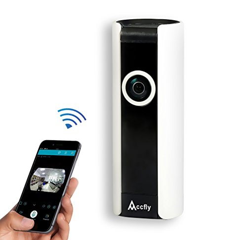 Accfly Wireless Security IP Camera System 720P HD WiFi Smart Home Surveillance Video Cam Two Way Talk Night Vision 185° Wide Angle Motion Detection