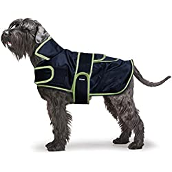 Biozoo Abrigo Impermeable Transpirable Confortable Para Perro Azul Talla 35