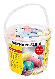 Eberhard Faber 526520Calle Veces Tiza de Purpurina, 20Cubo, Multicolor