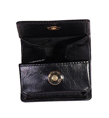 Luxus Echtes Leder Brieftasche Geldbörse Tasche ändern Fall HOL124 (Braun) Schwarz