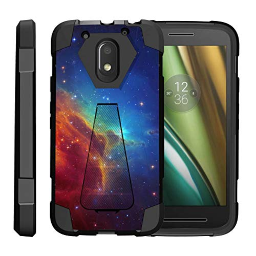 turtlearmor | Motorola Moto E3Fall | Moto E 3. Gen. Fall | Moto G4Play Schutzhülle [Dynamischer Shell] Hybrid Dual Layer Hard Shell Ständer Silikon Fall -, Colorful Nebula Galaxy (Moto Phone G Cricket)