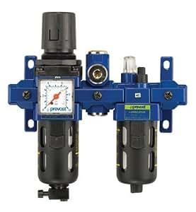 Prevost - Ensemble regulateur lubrificateur avec manometre + sortie air sec -