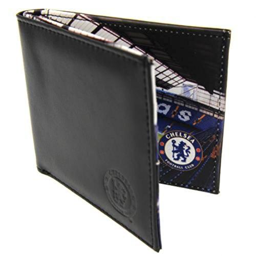 Chelsea FC geprägtes Leder Brieftasche Panorama 801Ledergeldbörse mit geprägtem Vereinswappen Panorama Stadion -