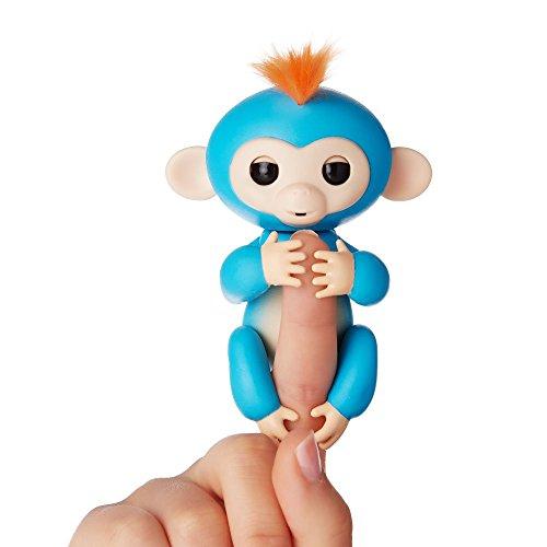 Fingerlings ouistiti turquoise bébé singe interactif de 12cm 0654329906392